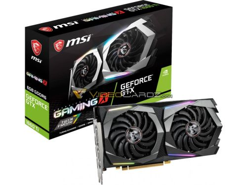 MSI GeForce GTX 1660 Ti GAMING X и ARMOR OC на фото