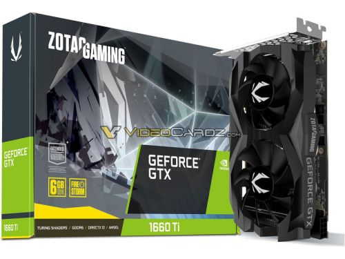 ZOTAC GeForce GTX 1660 Ti AMP и Twin Fan на фото