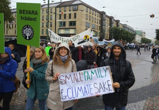 Small families for climate's sake