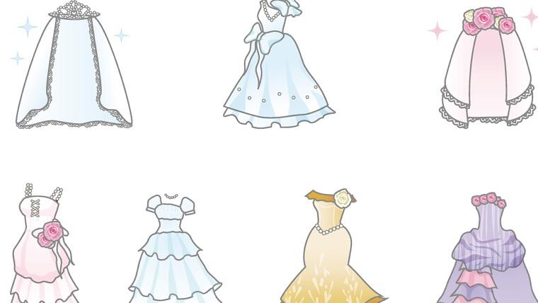 ウェディングイラストの手書きでのドレスの描き方はボールペンイラスト