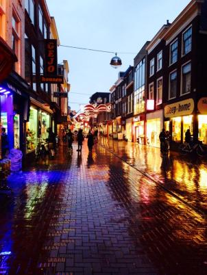 Harlemstrat during rain