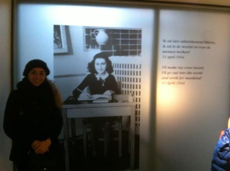 At the end of the Anne Frank House