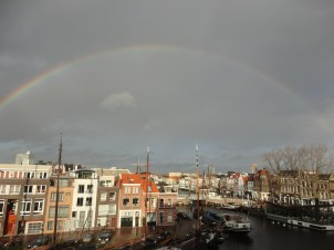 View of a rainbow from my window