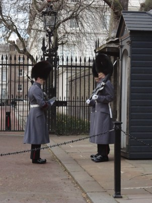 Guards in front of Clarence House