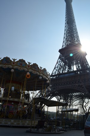 Carousal by the Eiffel Tower