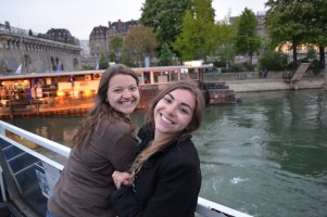 Sophie and I on the Seine