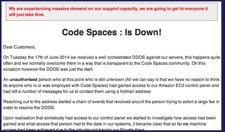 codespacesisdownonaws