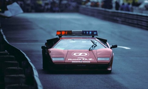 The Lamborghini Countach was used during the 1981, 1982 and 1983 Monaco GPs