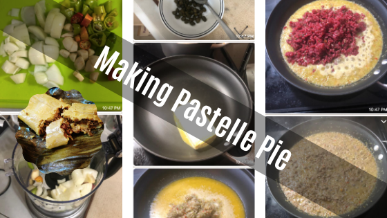 Making Trinidad Pastelle Pie