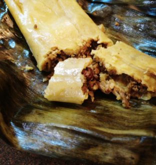 Photo of Trinidad Pastelle on fig leaf