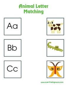 Letter Matching Printables