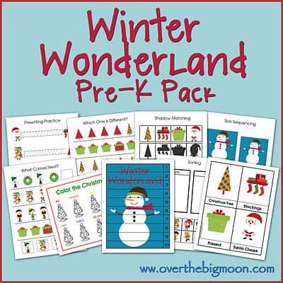 Winter Wonderland PreK Pack   Over the Big Moon