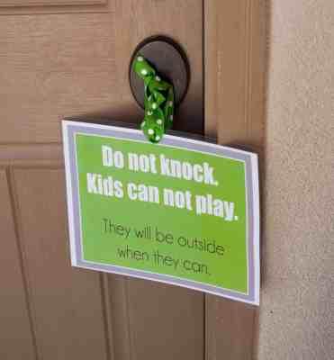 Do Not Knock Door Printable