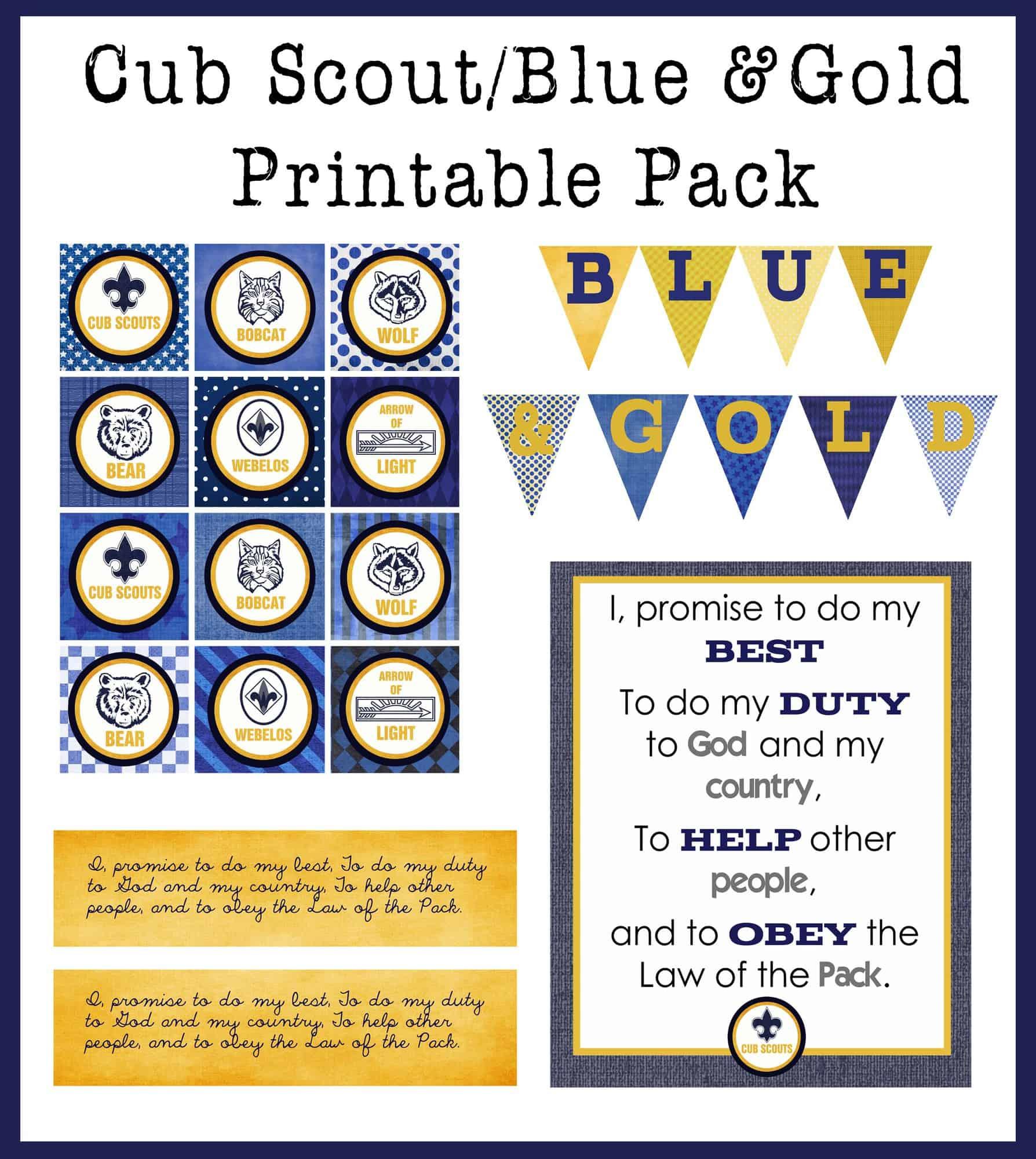Blue Amp Gold Printable Pack