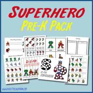 Superhero Pre-K Pack