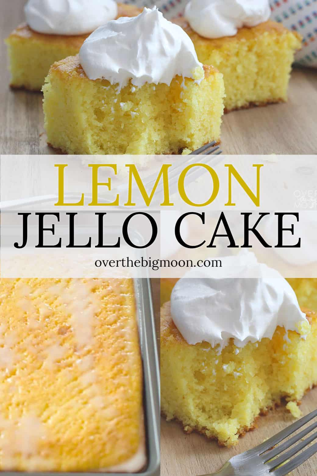 This light and fluffy Lemon Jello Cake is the perfect summer cake! It's a family recipe that most haven't heard of and people quickly become lifetime lovers of it!