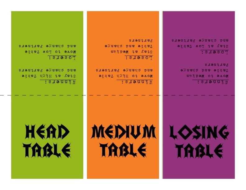 photo regarding Free Printable Bunco Table Tally Sheets identified as Halloween Bunco Printables