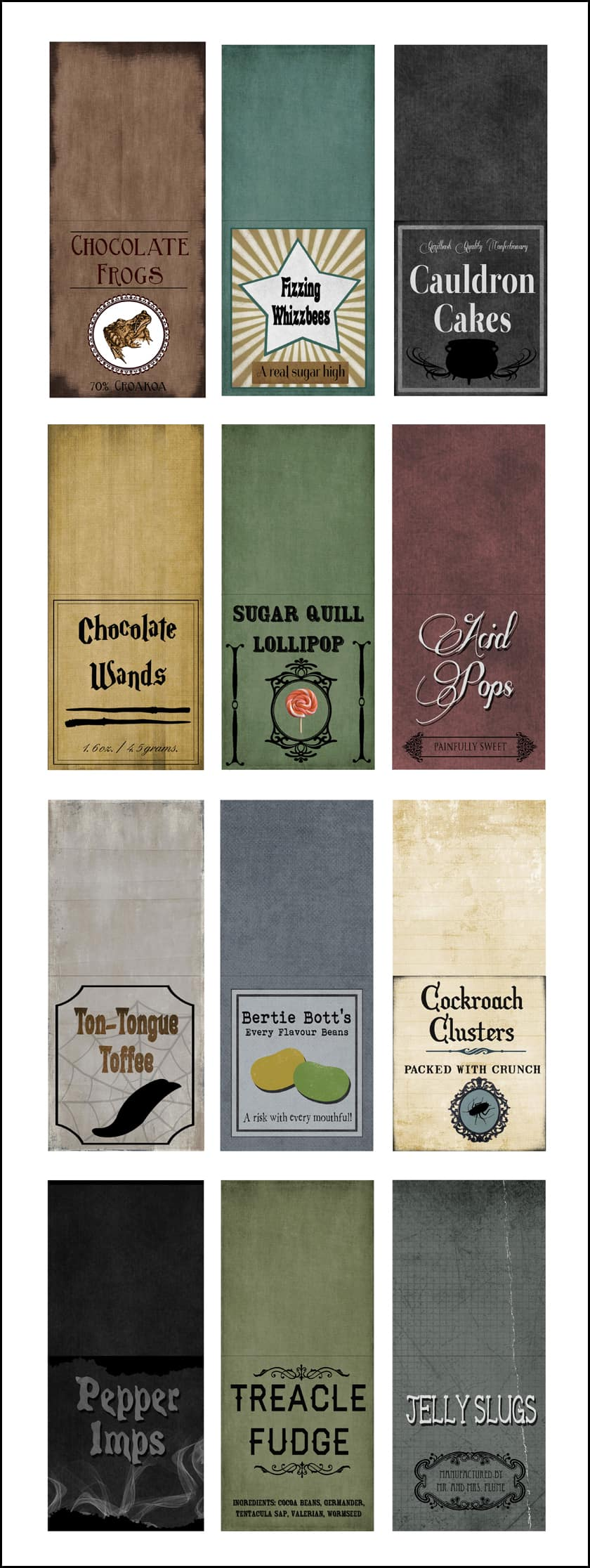 image about Hogwarts Sign Printable named Cost-free Harry Potter Sweet Printables