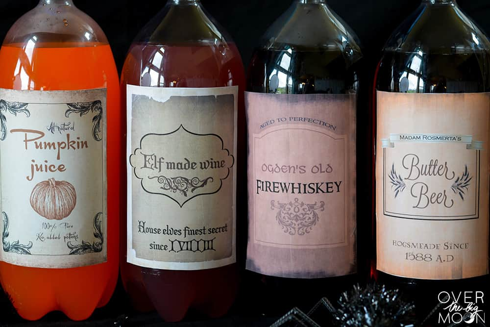 picture relating to Free Printable Wine Labels With Photo named Totally free Harry Potter Consume Printables