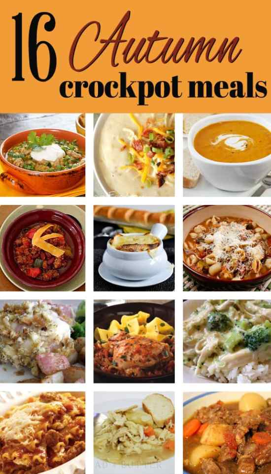 16 Autumn Crockpot Meals perfect for the cooler weather! | www.overthebigmoon.com