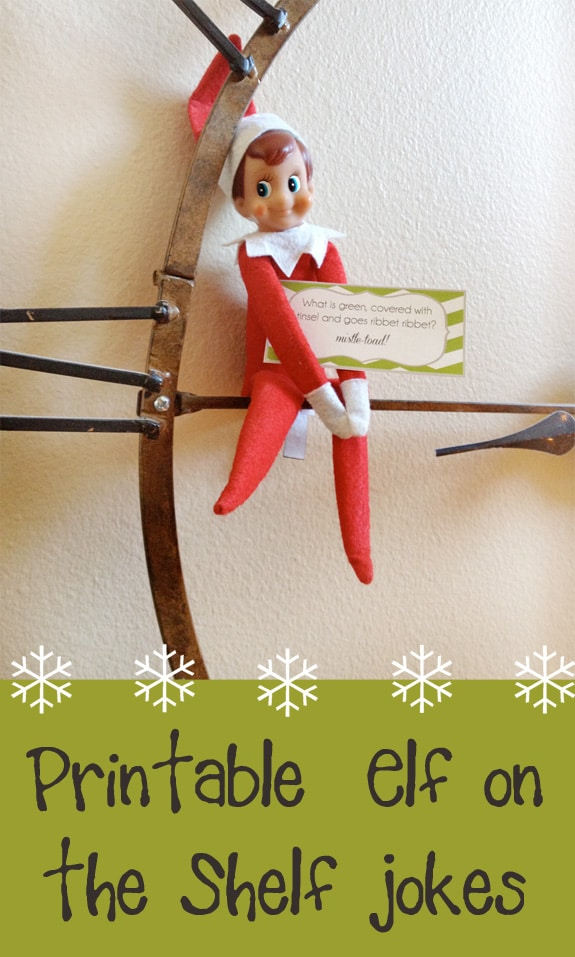 photograph regarding Elf Printable titled Elf upon the Shelf Printable Joke Playing cards - Previously mentioned the Significant Moon