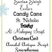 Free Christmas Fonts.Festive And Free Christmas Fonts