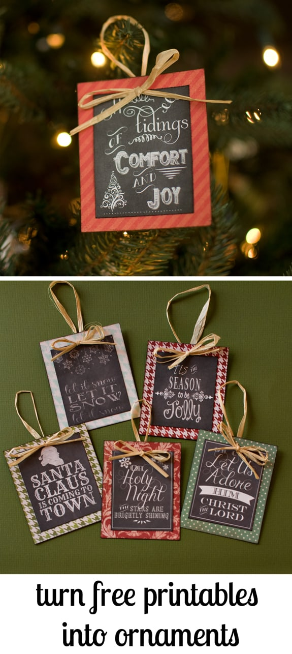 photo relating to Free Printable Christmas Ornaments identified as Change Totally free Printables into Ornaments + a Roundup of No cost
