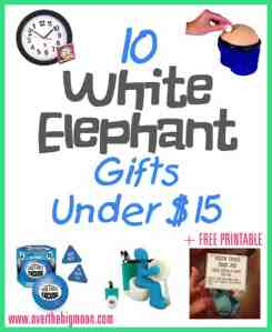 10 Fun White Elephant Gifts Under $15 + Free Printable