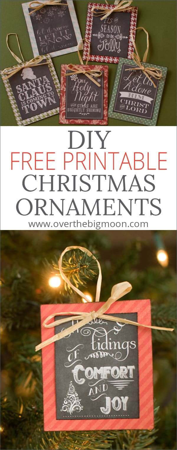picture relating to Free Printable Christmas Decorations identify Switch No cost Printables into Ornaments + a Roundup of Totally free