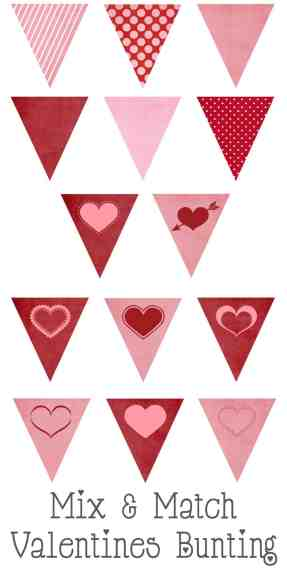 valentines bunting button