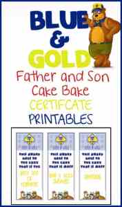 Blue & Gold Cake Bake Certificates