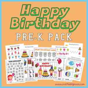 Happy Birthday Pre-K Pack