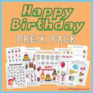 Happy Birthday Pre-K Pack