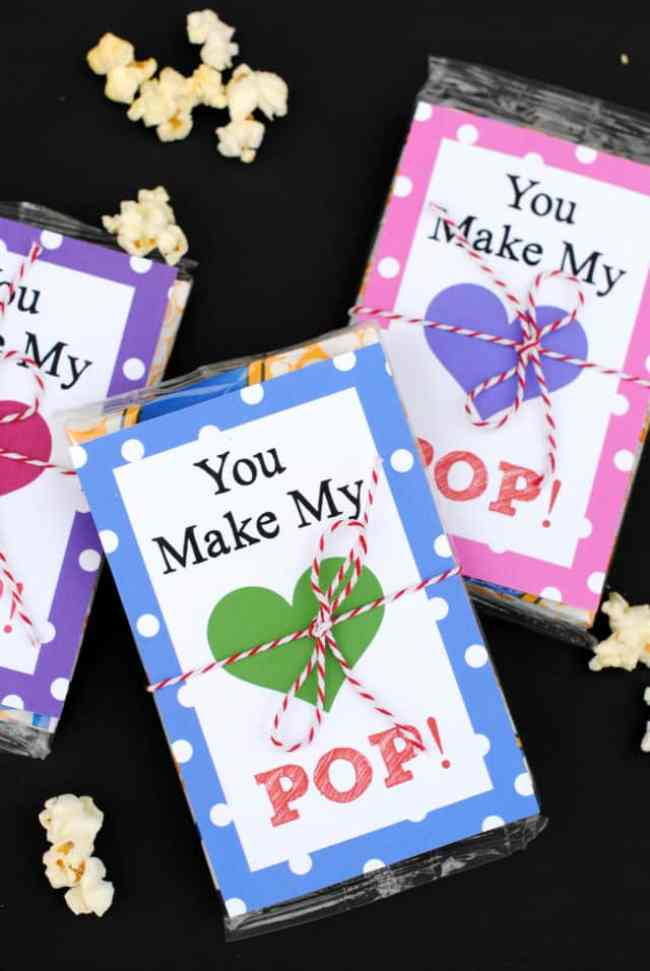 You Make My Heart Pop - Valentine Printable and IDea