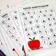 These Alphabet Printables are a fun activity for preschooleres! From overthebigmoon.com!