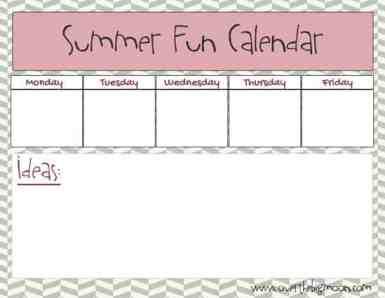 SummerFunCalendar3Blank