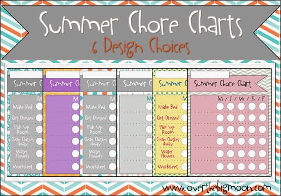 image regarding Summer Chore Chart Printable named Summer season Chore Charts