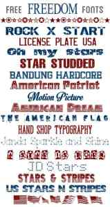 Free 4th of July Fonts