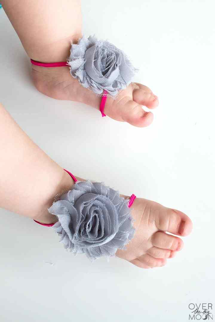 Baby feet are the best and these Baby Barefoot Sandals only make them cuter! From overthebigmoon.com!