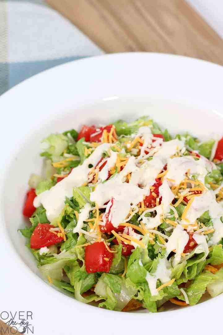 Easy Glorified Tacos + Ranch Dressing!