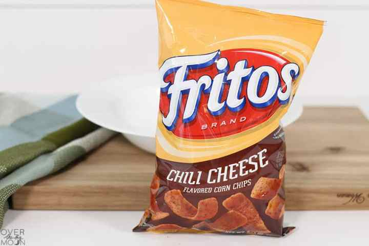 Chili Cheese Fritos -- they are used as the base layer in this Glorified Taco Bowl recipe!