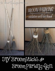 Make your own Witch Brooms and Halloween Signs