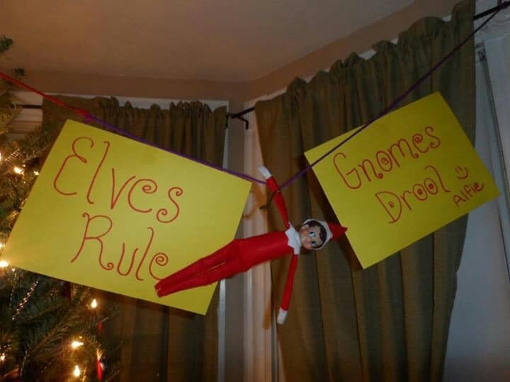 12 Last Minute And Free Elf On The Shelf Ideas Over The