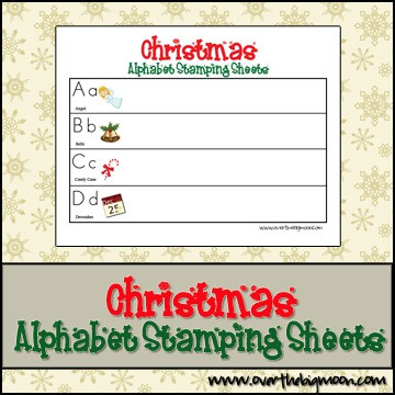 Christmas Alphabet Stamping Sheets