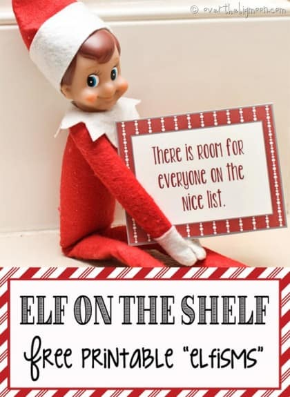 picture relating to Elf on the Shelf Kissing Booth Free Printable named 30+ Printable Elf upon the Shelf Tips Around The Substantial Moon