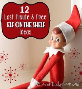 12 Last Minute and Free Elf on the Shelf Ideas