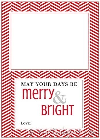 merry and bright card holder