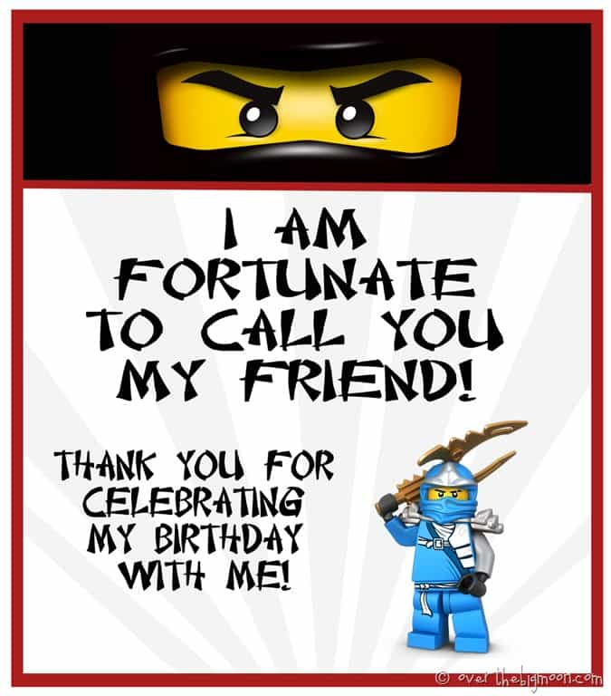 Ninjago Birthday Treat I Also Turned That Tag Into The Take Home Treats For His Party Just Cut Top Off So They Would Fit On Cute Out