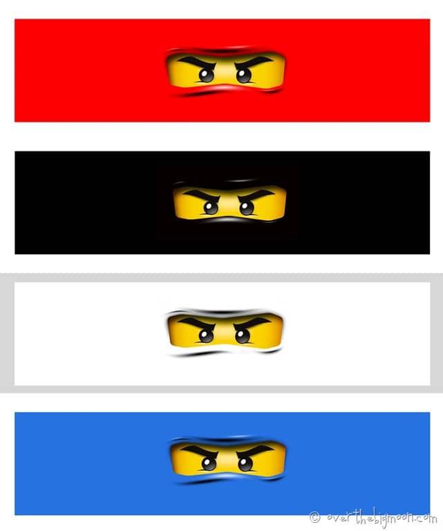 image regarding Printable Ninjago Eyes called Ninjago Birthday Get together with Free of charge Printables