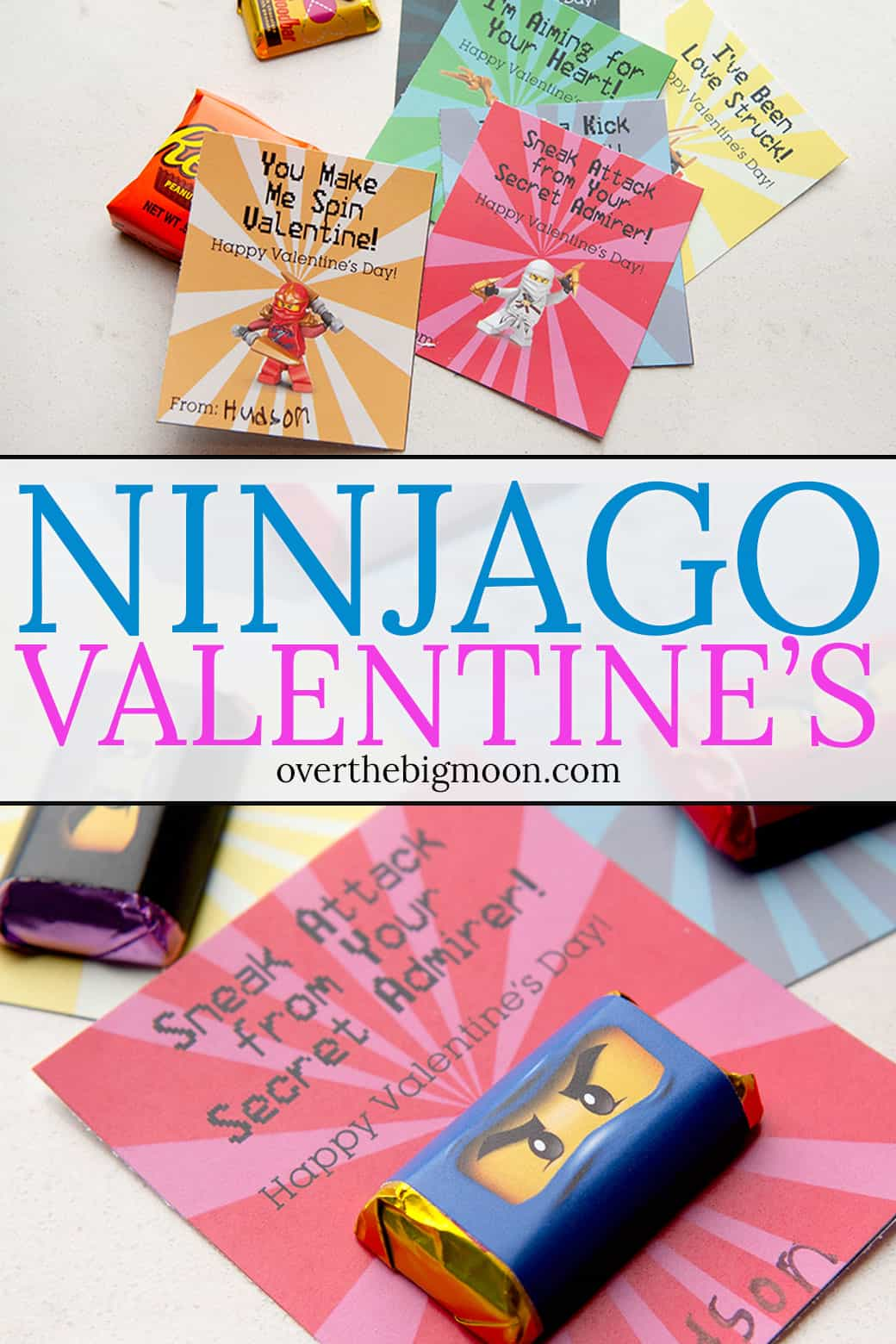 These printable Ninjago Valentine Handouts are a free and perfect Valentine option for those little Ninjago lovers! Two options available! From overthebigmoon.com!